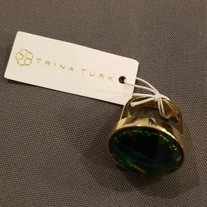 Trina Turk Jewelry - 💕TRINA TURK💕 Faceted Dome Cocktail Ring Metallic